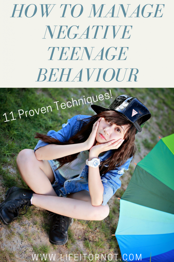 How to manage negative teenage behaviour and attitude
