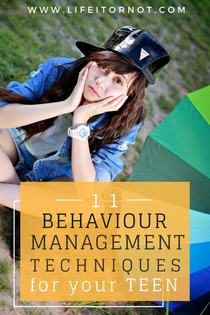 Teenage behaviour management attitude