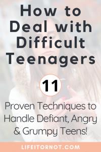 teenager behavior management