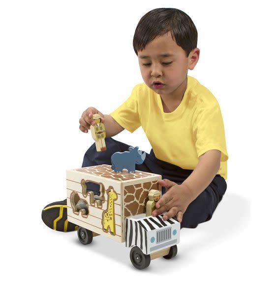 melissa doug animal rescue wooden play set