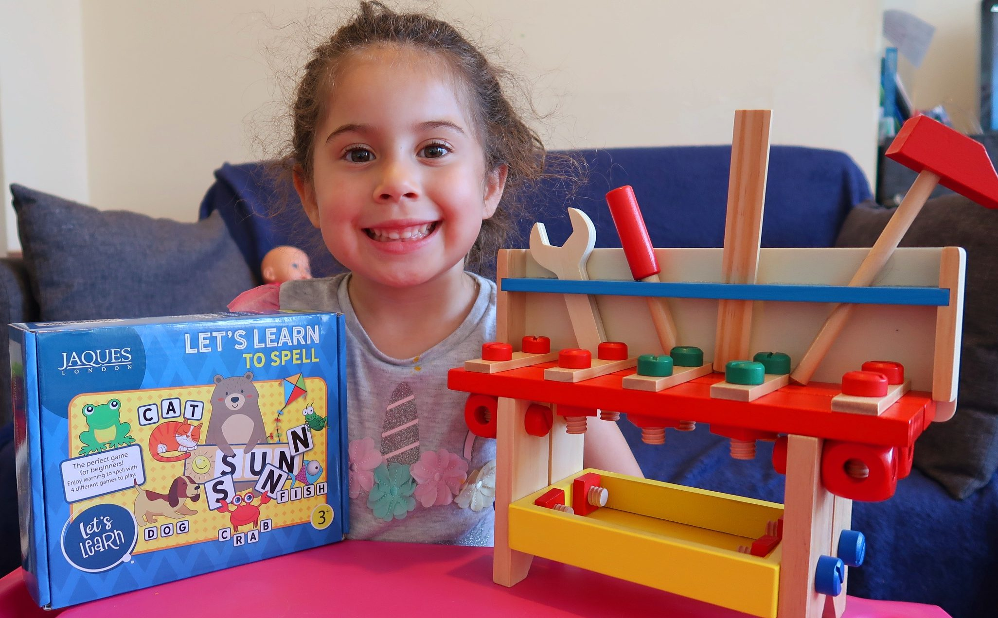child with educational preschool toys