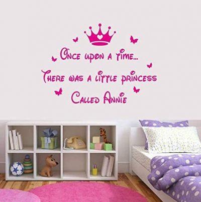 princess personalised wall art
