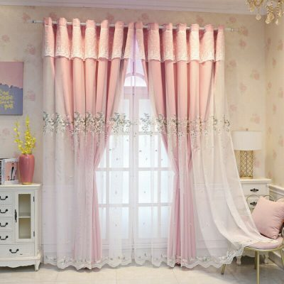princess elegant pink curtains