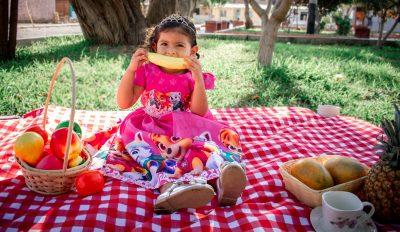 little girl eating nicely
